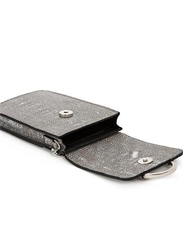 Vekem-Limited Edition Zincir Askılı Deri Çanta Gümüş